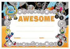 30 x Awesome School Certificates for Kids and Teachers. A5 Size