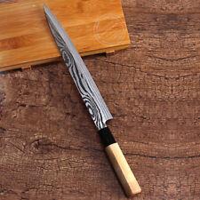 Sushi Sashimi Salmon Knife Filet Fish Slice Yanagiba Japanese Style Wood