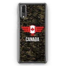 Huawei P20 Hard Cover Hülle Canada Kanada Camouflage mit Schriftzug Motiv Desig