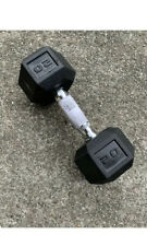 AmazonBasics Rubber Encased Hex Dumbbell Weight 20 Pounds SINGLE -