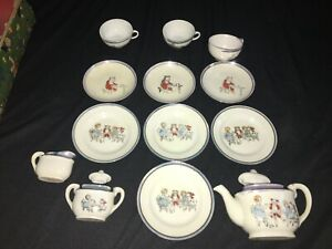 Vintage Childs Tea Set made in Japan Rose ~1950's 13 Piece Set