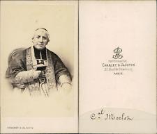 Cardinal Morlot vintage CDV albumen carte de visite, Homme d'église, évêque d'Or