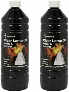 Bird Brand Clear Lamp Oil Indoor Outdoor Fuel Oil Lamps Burning Torches 2 X 1L