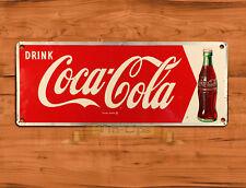 "TIN SIGN ""Coke Arrow"" Cola Soda Pop Kitchen Wall Decor"