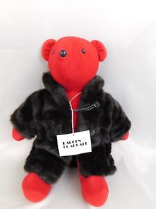 Vintage North American Bear Company NABCO VIB Lauren Bearcall Red Plush #C292