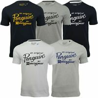 Mens T-Shirt by Original Penguin 'Script Logo' Short Sleeved