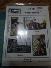 """""""What's cooking"""" Patterns For Stained Glass pattern packet Joan kelleher jt221"""
