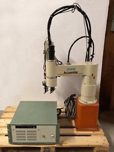 SEIKO EPSON ACCUSEMBLER CONTROLLER SCARA ROBOT ARM SRC-42M/F SSR-H703N-MZ