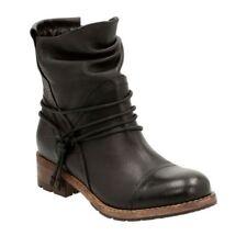 Clarks BNIB Ladies Ankle Boots VOLARA DINA Black Leather UK 7 / 41 RRP £110