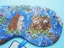 Eye Sleeping Mask Soft Cotton Hedgehog ravel Blackout Sleep Relax UK Made Gift