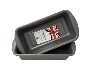 2LB Loaf Tins 2x Superior Non-Stick Baking Bread Cake Oven Tin