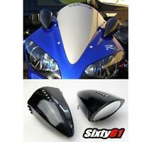 Yamaha R1 R6 Pig Spotter Mirrors Black 1999-2020 Custom LED Turn Signals