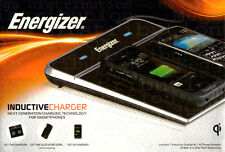 Energizer Dual Qi Wireless Charger Induction Charging Pad Mat USB Port Station