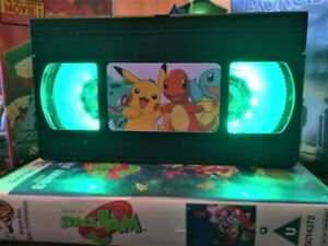 Pikachu Pokemon Movie VHS Night Light, Desk Lamp, Bedroom Lamp, Kids, Gift, TV