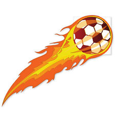"Soccer Ball on Fire Fans bumper sticker decal 4"" x 4"""