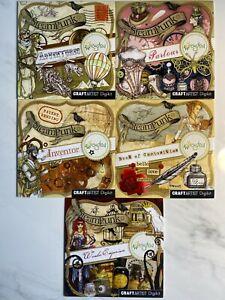 Daisytrail Serif Craft Artist Steam Punk Bundle - 5 Disk Craft CD ROMs