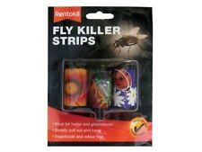 Rentokil Fly Killer Strips 3 Strips - Hanging Sticky Trap - Greenhouses