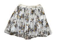 Torrid Womens Plus Size Flared Skirt Midi Size 3 (3XL) Elastic Waist Rose Print