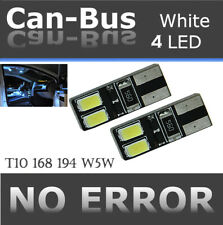 4 pcs T10 Canbus Samsung 4 LED Chips White Fit Rear Side Marker Light Bulbs A514