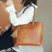 Women's Leather Handbag Shoulder Hobo Bag Lady Tote Messenger Satchel Purse Bags