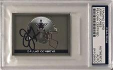 2015 Panini Jerry Jones Dallas Cowboys Firmado Auto Pegatina PSA/DNA O