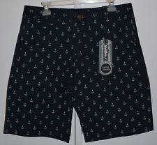 Rebel Jeans Co Dark Blue with Anchors Shorts Men's Size 34 NWT