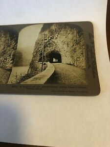 Vintage 1904 Tunnel Lake Lucerne Switzerland Stereoview Photo Griffith