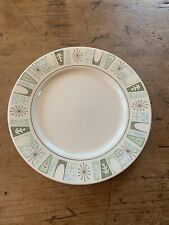 One (1) Vintage Taylorstone Cathay Large Dinner Plate Atomic Starburst 10.5""
