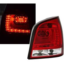 FEUX ARRIERE LED VW POLO 9N3 04/2005-05/2009 BLANC ROUGE LOOK 6R