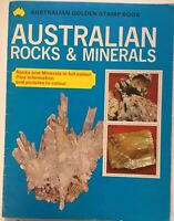 Australian Rocks And Minerals by Australian Golden Stamp Book - Vintage 1970