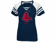 BOSTON RED SOX Women's Draft Me Lace-up Top MLB T-Shirt by Majestic NWT 50% off