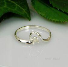 3mm Round Birthstone Swirl Sterling Silver Ring Setting Sz7 (Casting - Mount)