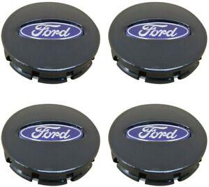 4pcs 67mm FORD Matte Black Logo Emblem Alloy Wheel Center Caps Hub Caps Rim Caps