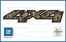 set of 2: 07  -  13 Chevy Silverado 4x4 decals Realtree Max4 Camo GM HD stickers