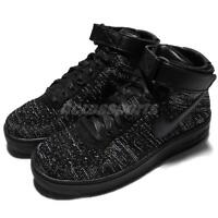 Wmns Nike AF1 Flyknit Air Force 1 One Mid Black Women Shoes Sneakers 818018-002