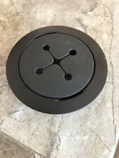 """3"""" Round Black Computer Desk Table Port Wire Cable Hole Cover Grommet"""