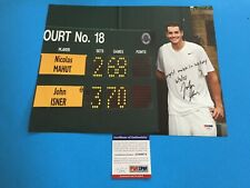 John Isner WIMBLEDON Tennis 11x14 Photo Signed Auto PSA/DNA COA