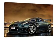 Nissan GTR 30x20 Inch Canvas - Framed Picture Poster Print JDM