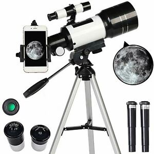 70mm Aperture 300mm Focal Portable Tripod Space Monocular Astronomical Telescope