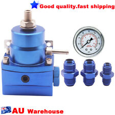 (Blue) Adjustable Fuel Pressure Regulator w/ boost -8AN 8/8/6 Pressure Regulator