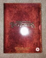 THE LORD OF THE RINGS - THE TWO TOWERS EXTENDED EDITION (4-DVD SET) (2002) *NEW*