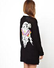 WILDFOX Apache Eagle knit cardigan Black Rare! Sz SMALL NWOT