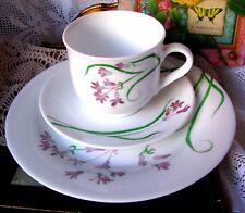 Martha Stewart Everyday Pacific Wildflower Lunch Trio - Teacup & Saucer & Plate