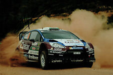 Elfyn EVANS WRC Welsh Rally DRIVER SIGNED AUTOGRAPH 12x8 Photo AFTAL COA