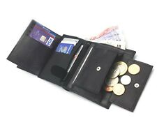ODS UK Mens High Quality Luxury Soft Leather Tri Fold Wallet Credit Card Slots