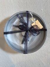 "NEW W TAGS AKCAM SET OF FOUR (4) Gray Glass Dish Plate Set 8.5"" Diameter"