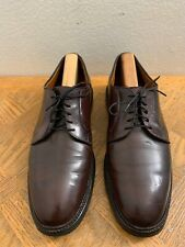 Mint Alden 990 Burgundy Shell Cordovan Plain-toe Men's Sz 11 A/C