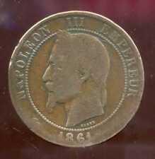FRANCE  FRANCIA   10 centimes NAPOLEON III   1861 K   (5)