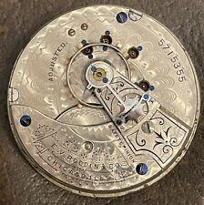Waltham Gr-PS Bartlett, 18sz. 15j Pocket watch Mvmt/Dial Runs! gr8 dial!