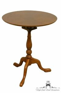 THE BOMBAY COMPANY Queen Anne Cherry Accent Pie Crust Table / Plant Stand
